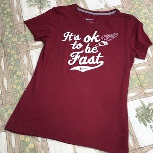 Nike Slim Fit 'It's okay to be fast' Running shirt